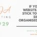 Marketing Tip 29: If you have a website, always stick to a clean, simple and organised layout